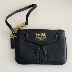 Authentic Coach Black Patent Leather Wristlet